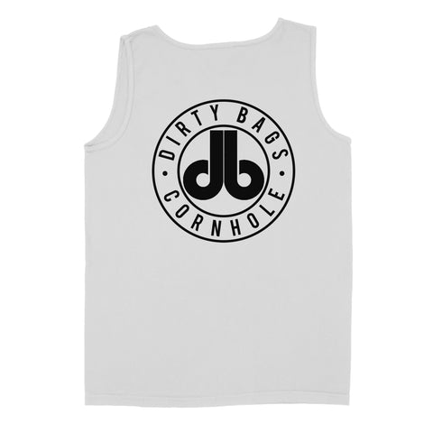 Dirty Bags Mens Tank Top - White with Black Logo