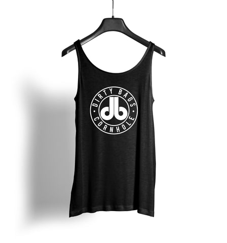Women's Tank Top - Black with White db