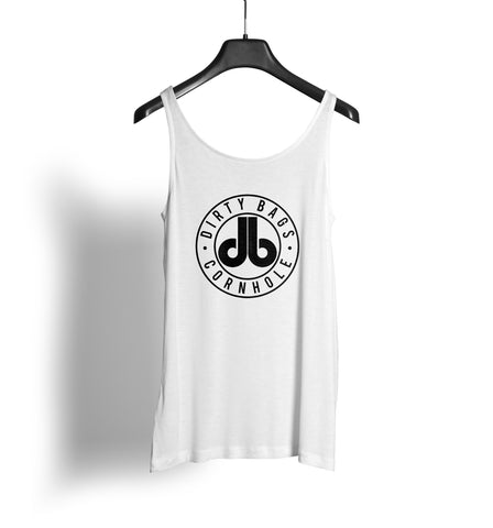 Women's Tank Top - White with Black db