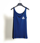 Women's Tank Top - Blue with White db