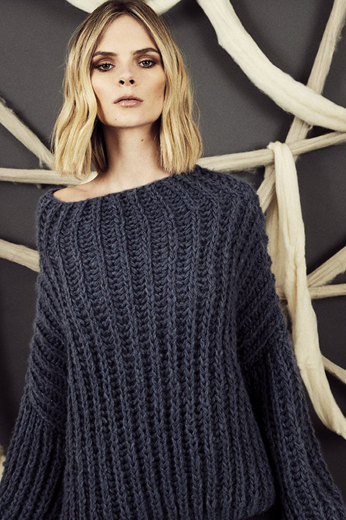 First Born Knits - Twiggy Sweater - Charcoal