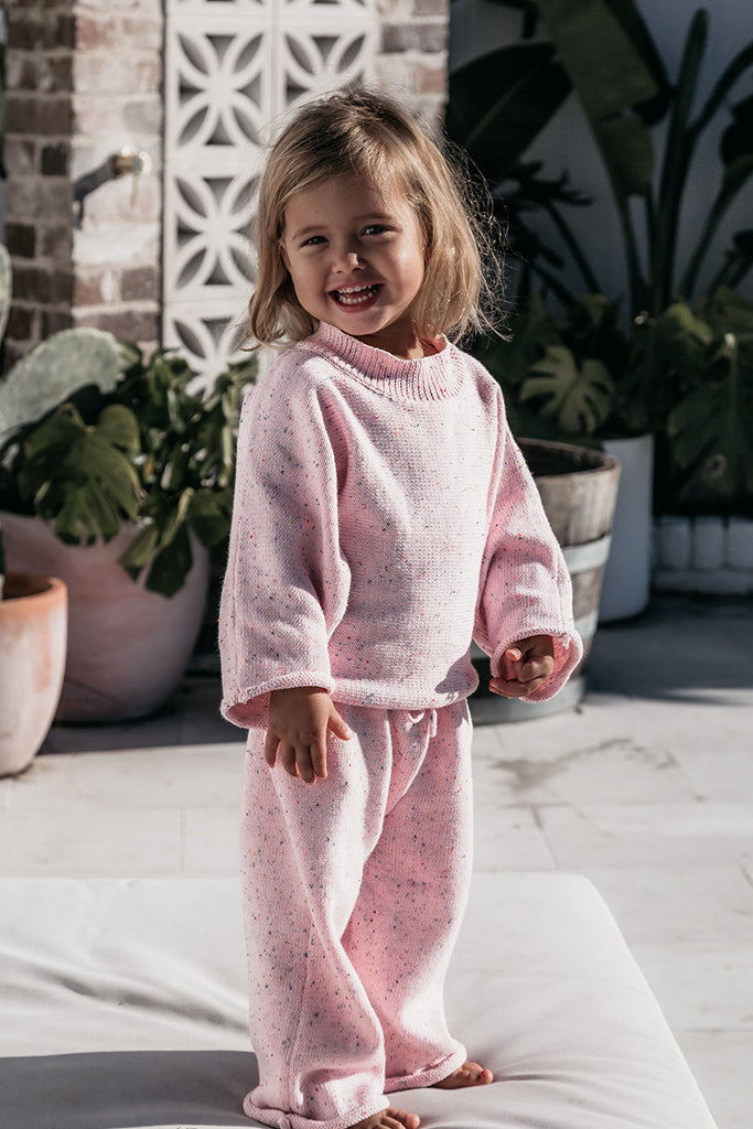 Fable & Ford - Mini Jumper & Pant Set - Sprinkle Pink