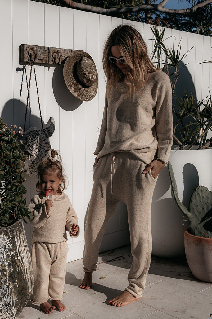 Fable & Ford - Mama Jumper & Pant Set - Sprinkle Oat