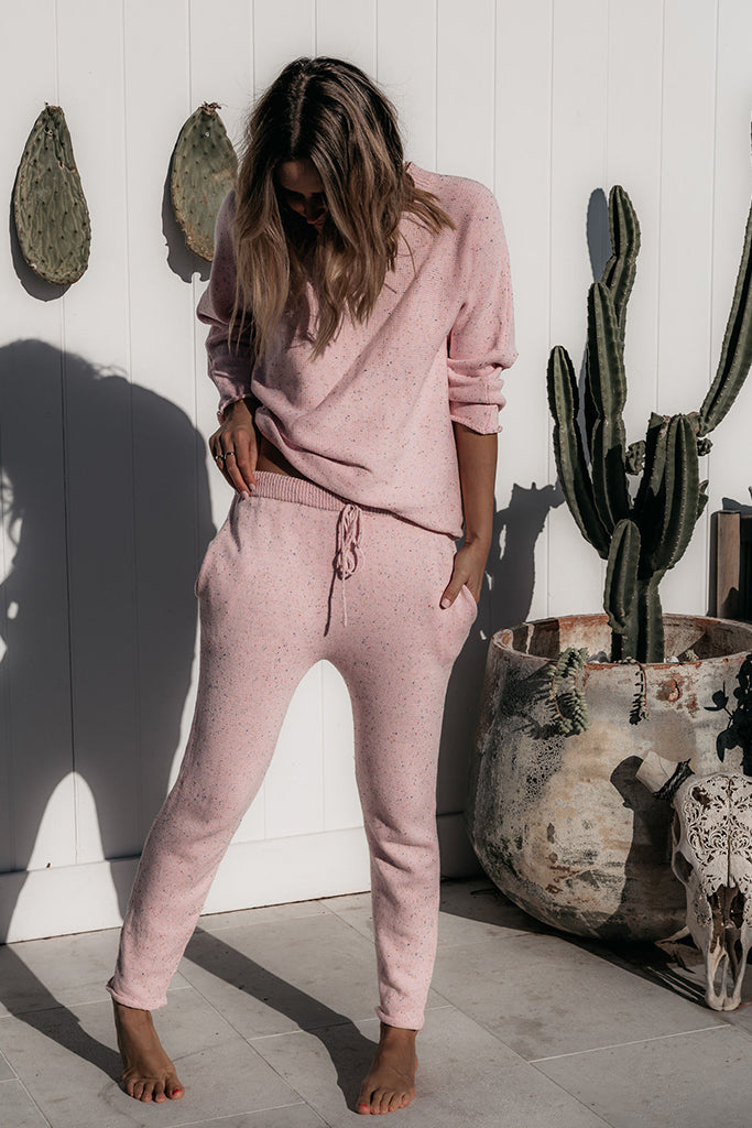Fable & Ford - Mama Jumper & Pant Set - Sprinkle Pink