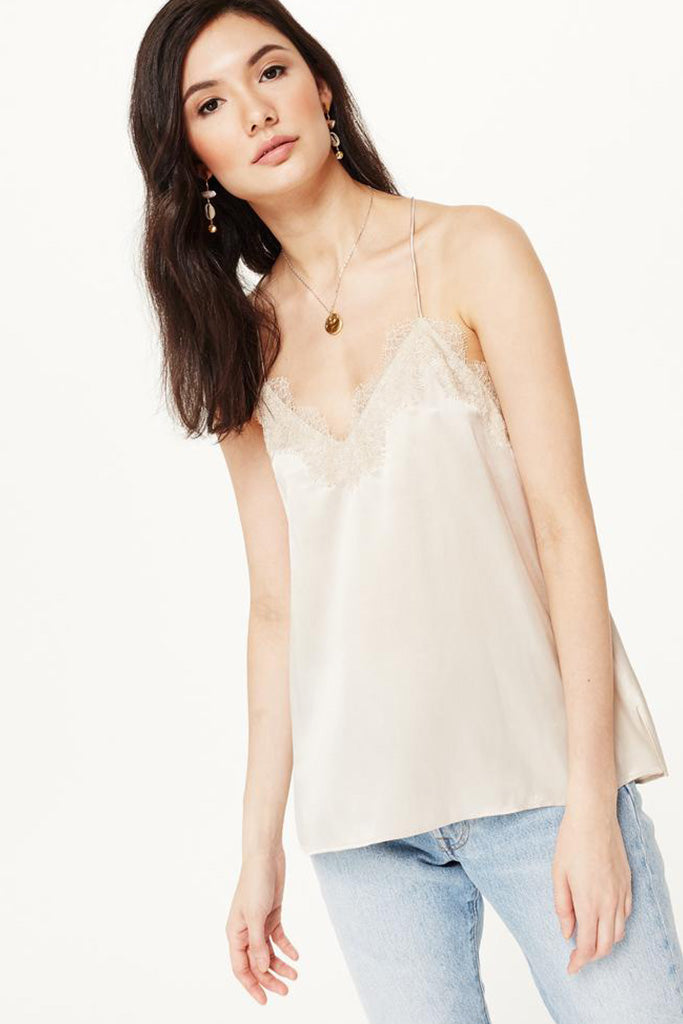 Cami NYC - Racer Charmeuse Cami - Oat