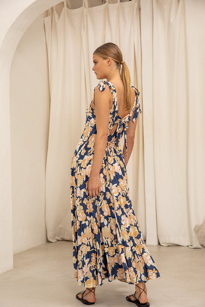 Kivari - Briar Floral Strappy Maxi Dress