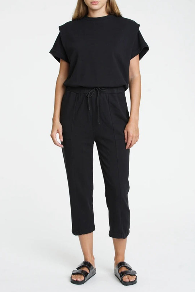 Pistola - Clarisse French Terry Shoulder Pleat Jumpsuit