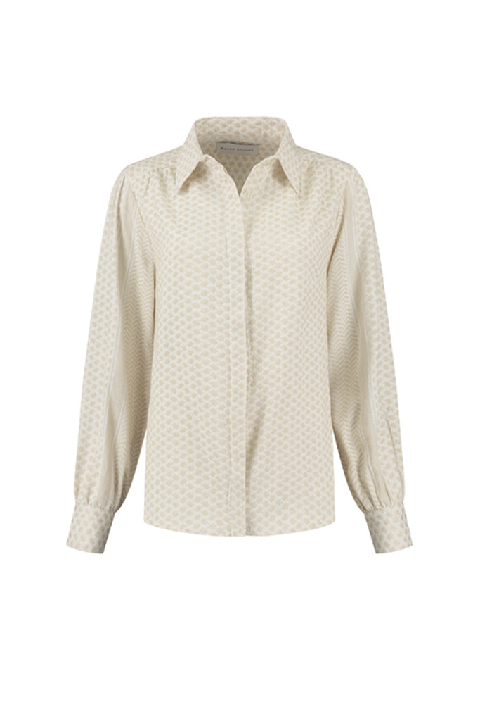 Rough Studios - Bibi Blouse - Beige/White