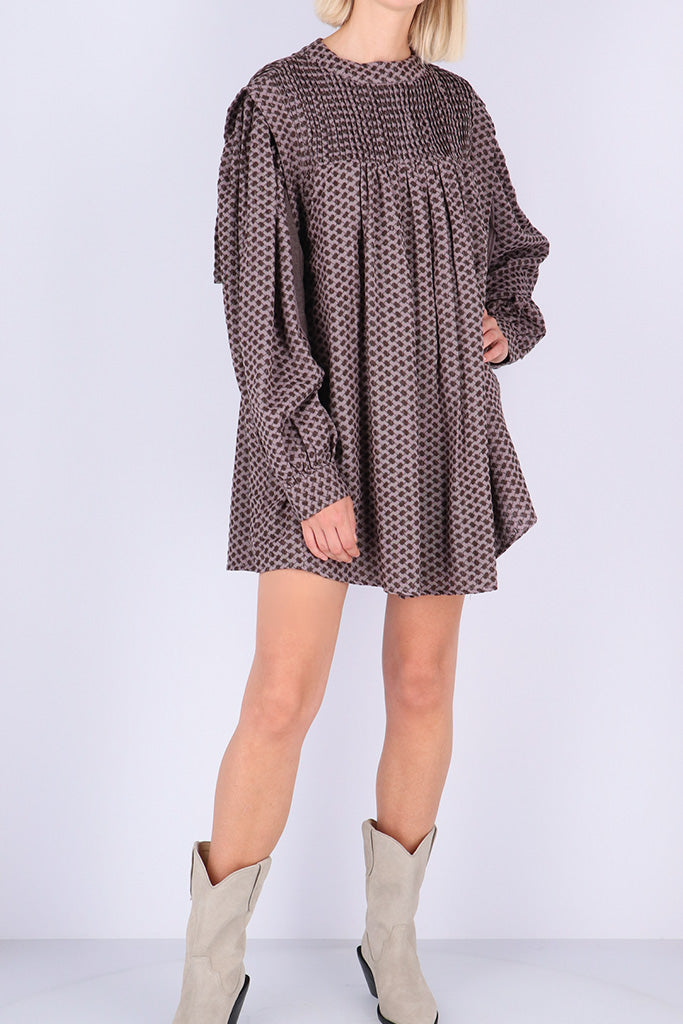 Rough Studios - Darin Dress - Brown/Lilac