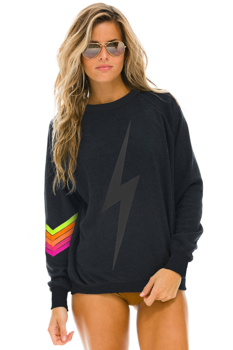 Aviator Nation - Bolt Stitch Chevron Crewneck Sweatshirt - Unisex