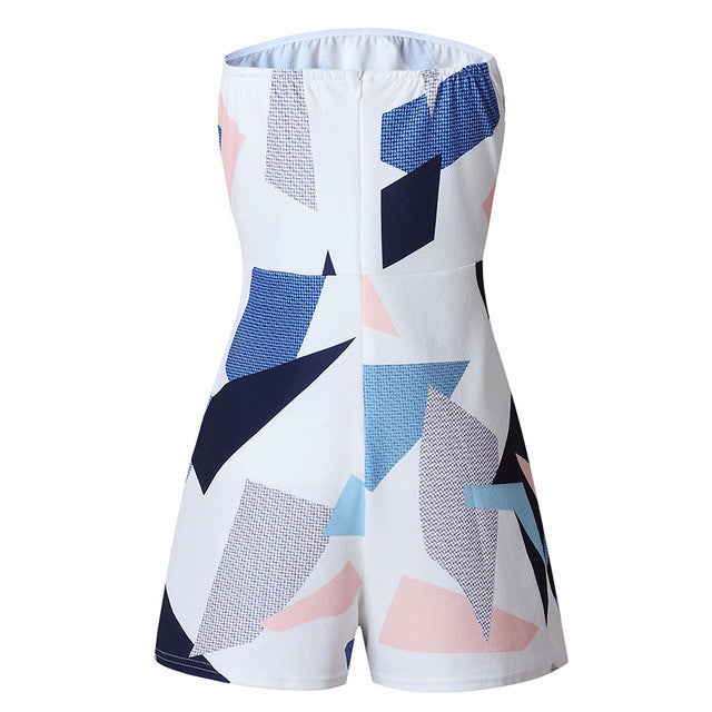Modern Sexy Off-Shoulder Abstract Romper