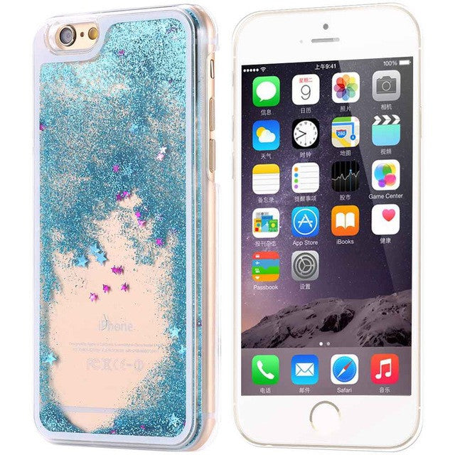 Chic Dynamic Glitter Liquid Phone Case For iPhones (6/6s/6+/6s+/7/7+)