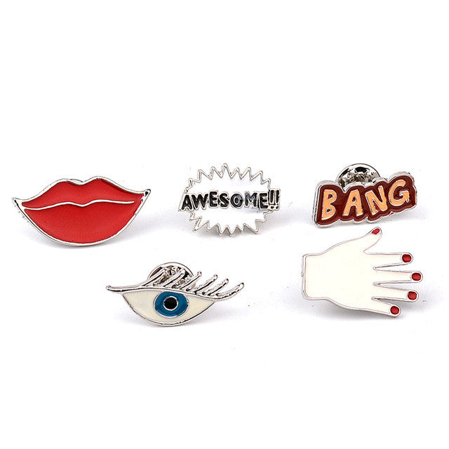 Colorful Enamel Pins Sets / Brooches / Women Girl Clothing Accessories