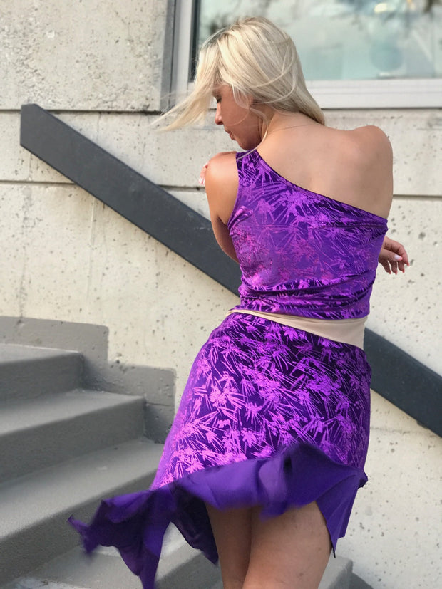 Purple performance dress - Bailemos Dancewear