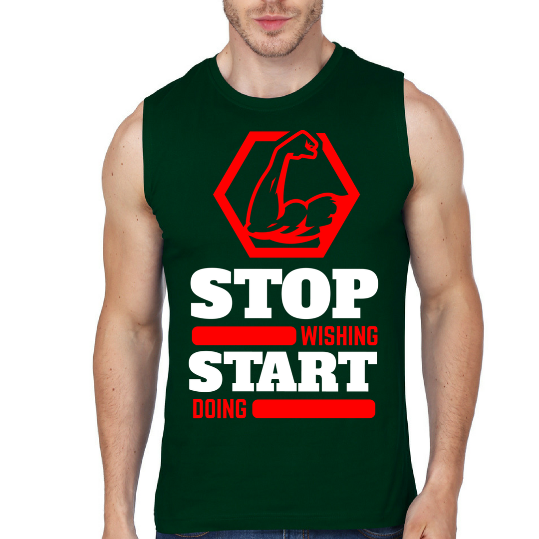 Stop Wishing Start Doing - Tank Top