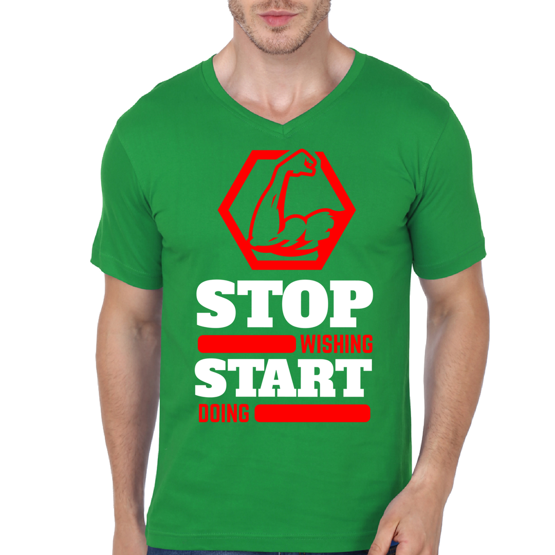 Stop Wishing Start Doing - V Neck