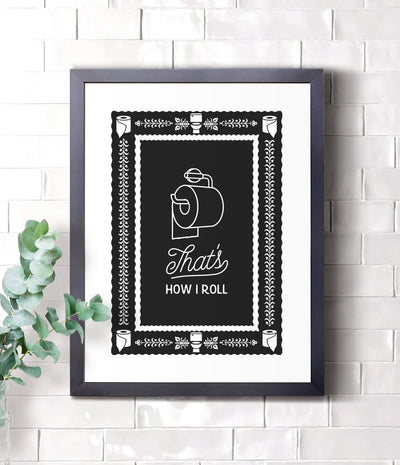How I roll (under) framed print