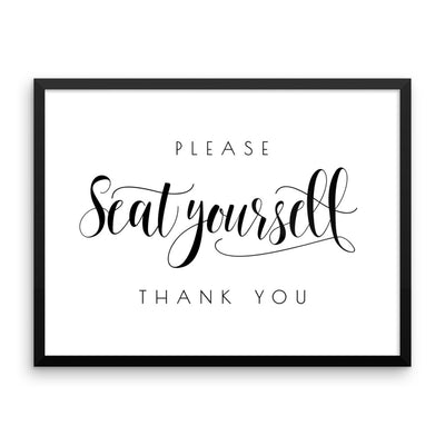 Please Seat Yourself Framed Print (landscape)