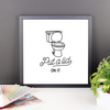 Put a lid on it framed bathroom print