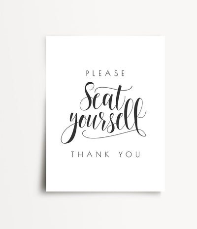Please Seat Yourself Print