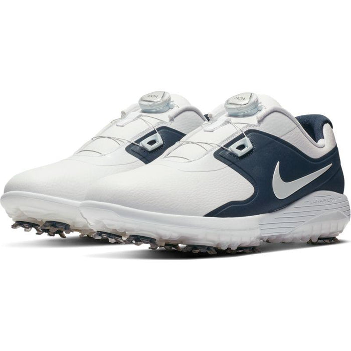 Nike Vapor Pro BOA White/Navy Golf Shoes - HowardsGolf