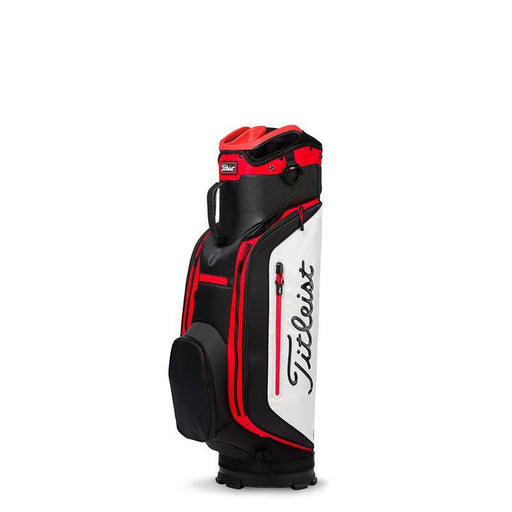 Titleist Club 7 Cart Bag Black/White/Red - HowardsGolf