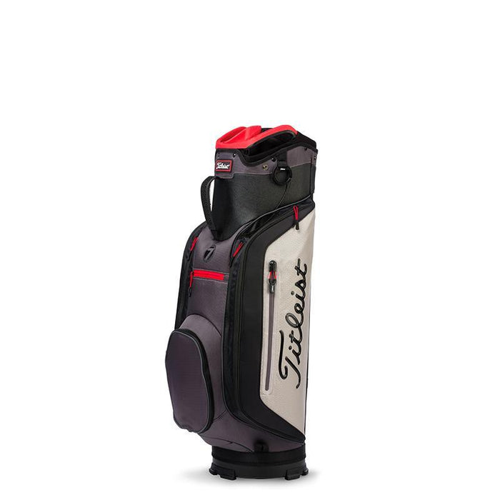 Titleist Club 7 Cart Bag Black/Granite/Red - HowardsGolf