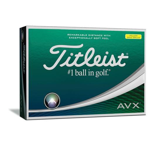 Titleist AVX Golf Balls Yellow - HowardsGolf