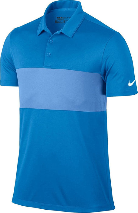 Nike Men's Breathe Color Block Golf Polo (Photo Blue/University Blue) - HowardsGolf