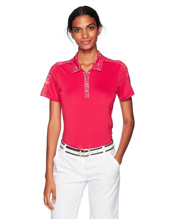 adidas Golf Women's Printed Short Sleeve Merch Polo