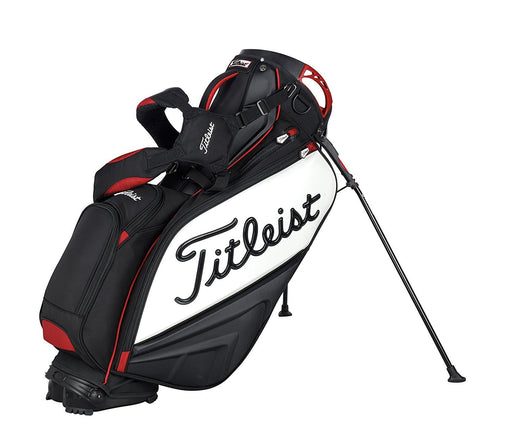 Titleist Staff Stand Bag: Black-White-Red