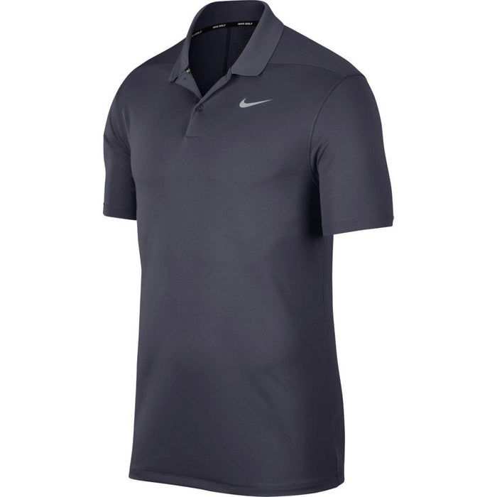 Nike Dri FIT Polo Victory Solid 891857 Gridiron/Flat Silver 015 - HowardsGolf