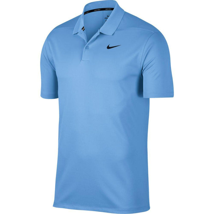 Nike Dri FIT Polo Victory Solid 891857 University Blue/Black 412 - HowardsGolf