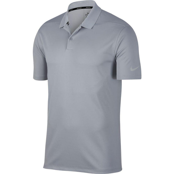 Nike Dri FIT Polo Victory Solid 891881 Wolf Grey/Black 012 - HowardsGolf