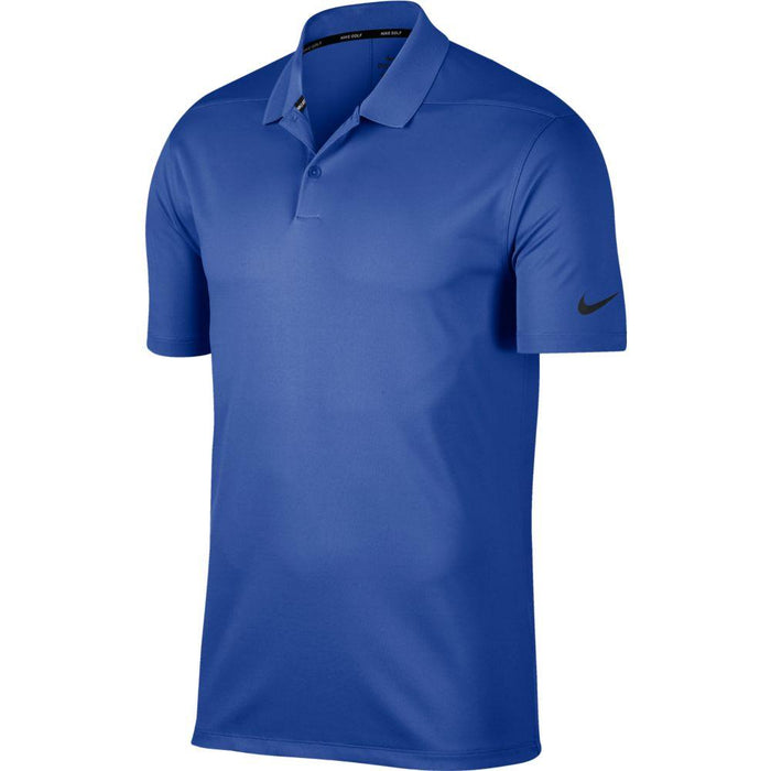 Nike Dri FIT Polo Victory Solid 891881 Game Royal/Black 480 - HowardsGolf