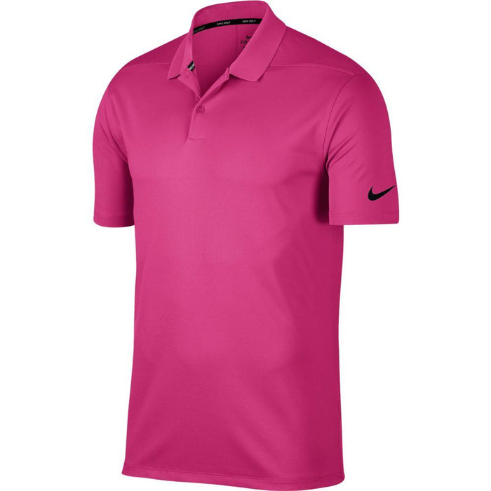 Nike Dri FIT Polo Victory Solid 891881 Vivid Pink/Black 616 - HowardsGolf
