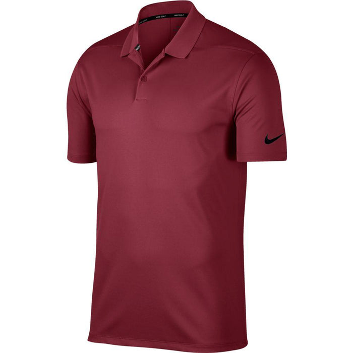 Nike Dri FIT Polo Victory Solid 891881 Team Maroon/Black 692 - HowardsGolf