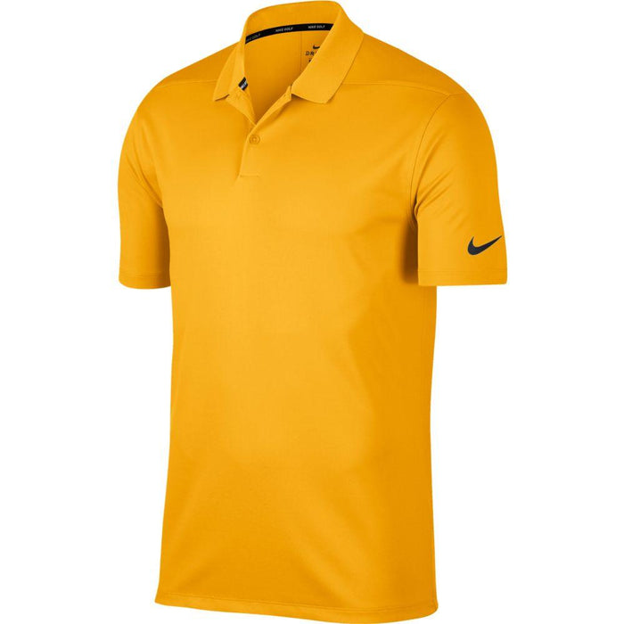 Nike Dri FIT Polo Victory Solid 891881 University Gold/Black 739 - HowardsGolf