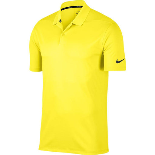 Nike Dri FIT Polo Victory Solid 891881 Yellow Strike/Black 765 - HowardsGolf