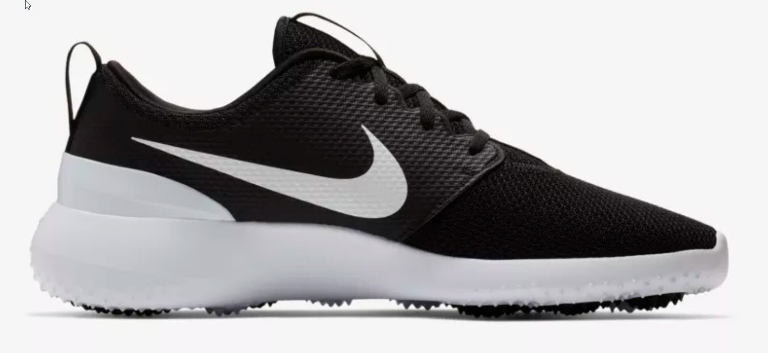 a4bf93dd96249 ... Nike Roshe G Mens Black White Golf Shoes - HowardsGolf ...