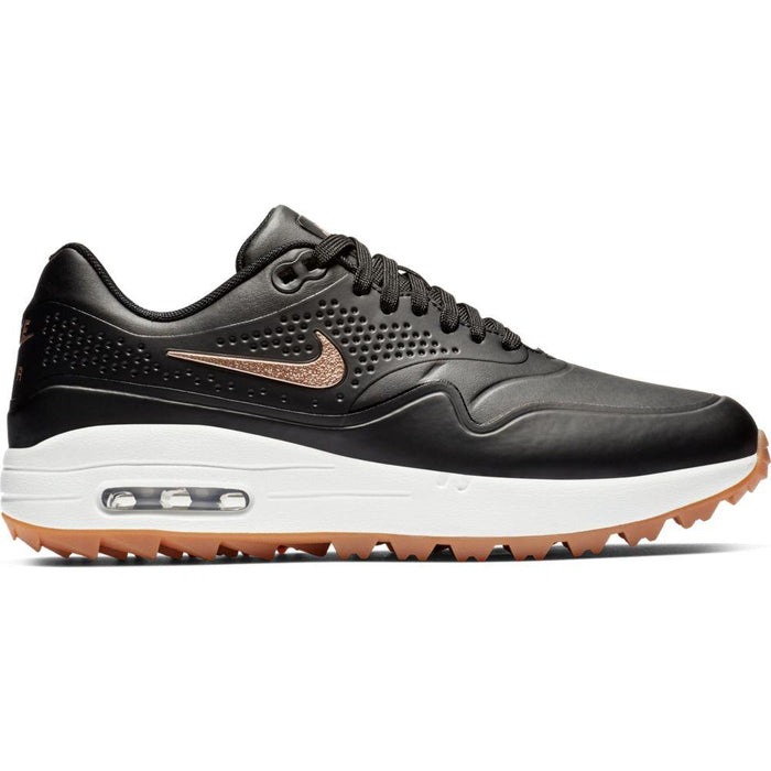 Nike Womens Air Max 1 G Black/Bronze Golf Shoes - HowardsGolf