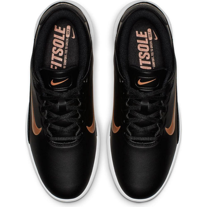 Nike Womens Vapor Black/Bronze Golf Shoes - HowardsGolf