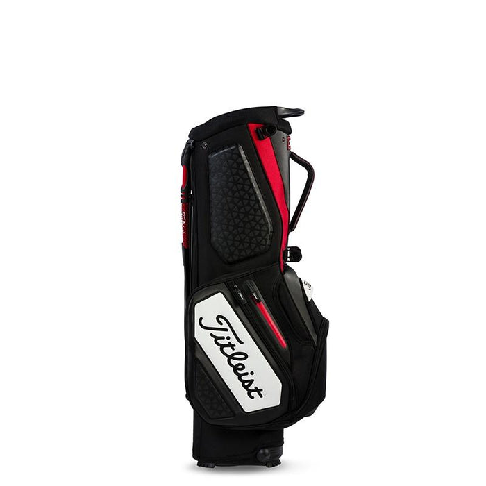 Titleist Staff Stand Bag Black/Red/White - HowardsGolf