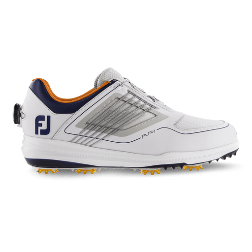 FootJoy Fury BOA White/Navy/Orange Golf Shoes - HowardsGolf