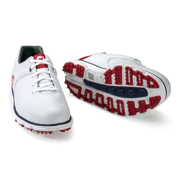 FootJoy Pro SL White/Red/Navy Golf Shoes