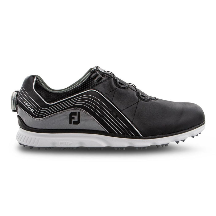 FootJoy Pro SL BOA Black/Silver Golf Shoes - HowardsGolf