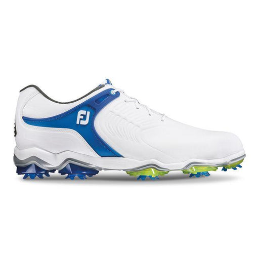 FootJoy Tour S White/Blue Golf Shoes - HowardsGolf