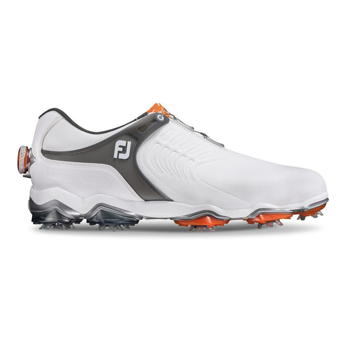 FootJoy Tour S BOA White/Dark Grey Golf Shoes - HowardsGolf