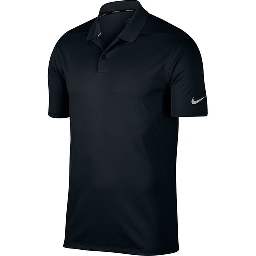 NIKE Men's Dry Victory Solid Polo Golf Shirt, Black/Cool Grey