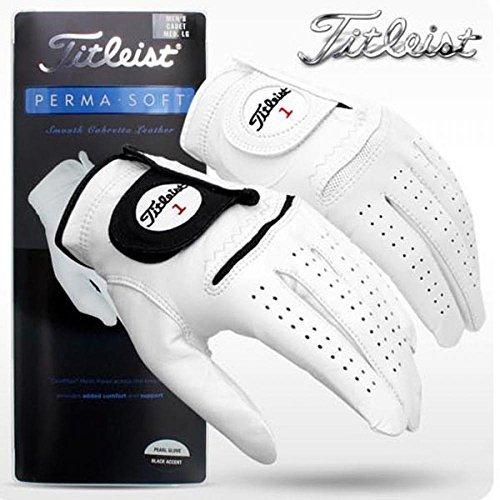 New Titleist Perma Soft Men's Golf Glove - Pearl White
